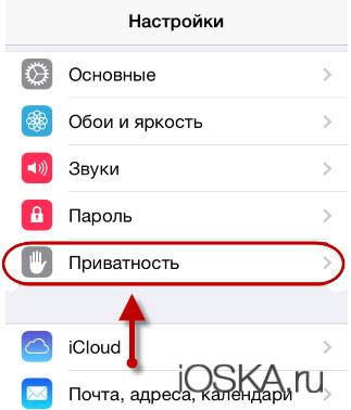 Приватность в айфоне