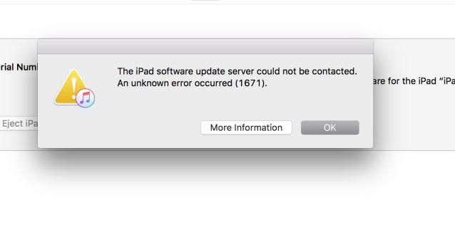Ошибка 1671 в iTunes