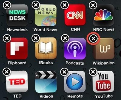 Как удалить программу с iPhone